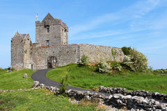 Facade of Dunguaire castle Stock Image
