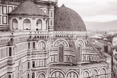 Facade of Duomo Cathedral Church, Florence Stock Images