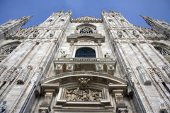 Facade of Duomo cathedral in Milan, Italy Royalty Free Stock Image