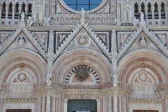 The facade of the Duomo in Siena Royalty Free Stock Photos