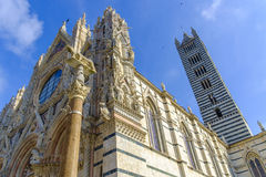 Facade of the Duomo, Siena, Tuscany, Italy Stock Photos