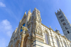 Facade of the Duomo, Siena, Tuscany, Italy Stock Photography