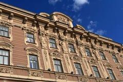 Facade of edifice Stock Images