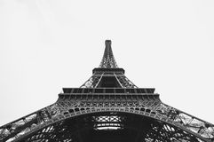 Facade of Eiffel Tower, Paris, France Stock Photo