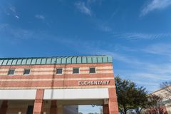 Facade of elementary school in America royalty free stock photo