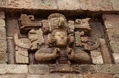 Panel from facade, Copán, Honduras Royalty Free Stock Photos