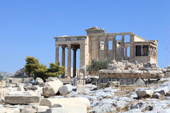 Facade of Erechtheum Stock Photography