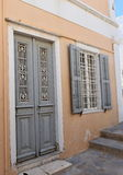 Facade in Ermoupoli Syros, Greece Royalty Free Stock Image