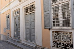 Facade in Ermoupoli Syros, Greece Stock Image