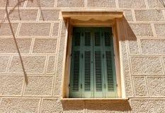 Facade in Ermoupolis Syros, Greece Stock Photo