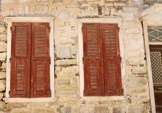 Facade in Ermoupolis Syros, Greece Royalty Free Stock Photo