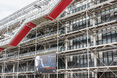 Facade with escalators of the famous Centre Pompidou in Paris, France Royalty Free Stock Photography
