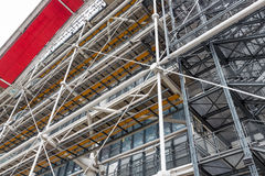 Facade with escalators of the famous Centre Pompidou in Paris, France Stock Image