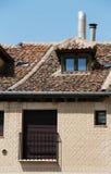 Facade in esgrafiado style, segovia, spain. A detail of the facade of an ancient house in segovia, spain, with the characteristic decoration called esgrafiado stock photography