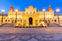 Facade of espana Plaza Seville Royalty Free Stock Images