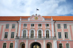 Facade of Estonian Parliament Building. Stock Photo