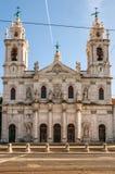 Facade of The Estrela Basilica in Lisbon, capital of Portugal Stock Photography