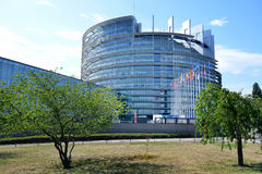 Facade of the European Parliament in Strasbourg, France Royalty Free Stock Image