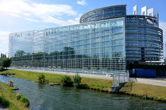 Facade of the European Parliament in Strasbourg, France Stock Photo