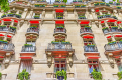 Facade of the expensive hotel, France Royalty Free Stock Images