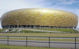 Facade för PGE-ArenaGdansk stadion Arkivfoton