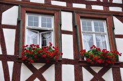 Facade of Fachwerkhaus in Germany Stock Photos