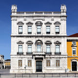 Facade of famous building in Lisbon Royalty Free Stock Photos