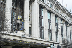 Facade of famous department store Selfridges Stock Photography