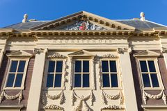 Facade famous Dutch museum Mauritshuis in The Hague, The Netherlands Stock Images