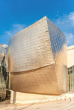 Facade of the famous Guggenheim museum in Bilbao, Spain Stock Photography