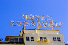 Facade of famous historic Roosevelt Stock Photography