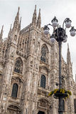 Facade of the famous Milan Cathedral Royalty Free Stock Photography
