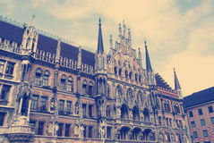 Facade of the famous Townhall  Munich Royalty Free Stock Images
