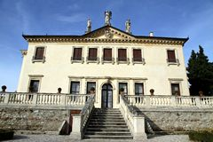 Facade of the famous Venetian Villa Valmarana ai nani in the cit Stock Photography