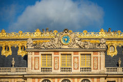 Facade of the famous Versailles Chateau, France Stock Images