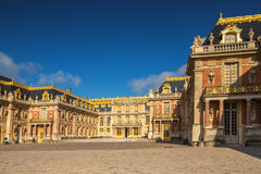 Facade of the famous Versailles Chateau, France Royalty Free Stock Image