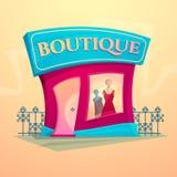 Facade fashion shop, vector illustration Stock Images