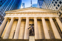 Facade of the Federal Hall with Washington Statue on the front, Stock Photography