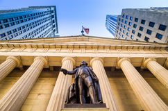 Facade of the Federal Hall with Washington Statue on the front, Stock Photos