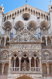 Facade of Ferrara Cathedral, Italy Stock Photos