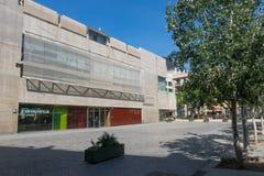 Facade of Filmoteca of Catalonia, film archive, cinemas, exhibit Stock Photos