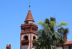 Facade of Flagler College in St Augustine Royalty Free Stock Photo