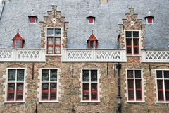 Facade of flemish houses Stock Photography