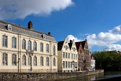 Facade of flemish houses in Brugge Royalty Free Stock Photos