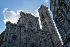 Facade of Florence Cathedral Stock Photos