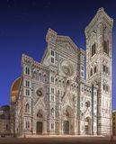 Facade of Florence Cathedral with tower, Italy Stock Photos