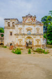 Facade of the former El Carmen church. Antigua Guatemala Stock Images