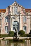 Facade & fountain. National Palace. Queluz. Portugal Royalty Free Stock Photography