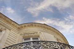 Facade of a French stoned house royalty free stock photos