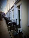 Facade front entrance estate London uk. Britain england British English London UK estate Royalty Free Stock Images
